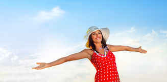 Carefree woman Stock Photo