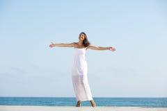 Carefree woman enjoying life Royalty Free Stock Image