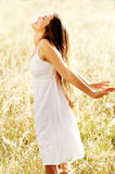 Carefree woman outdoors Royalty Free Stock Photo
