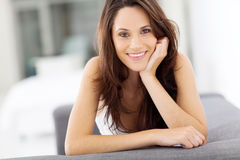 Carefree young woman Stock Images