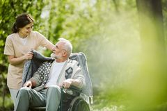 Free Careful Caregiver Taking Care Of The Patient Stock Photo - 149750550