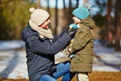 Careful father Royalty Free Stock Images