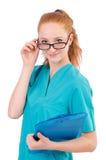 Careful nurse Stock Image