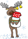 Careful reindeer. Vector illustration of an careful reindeer Stock Images