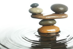 Carefully balanced stones Royalty Free Stock Photography
