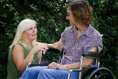 Caregiver met Patiënt Stock Foto