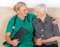 Caregiver and patient Royalty Free Stock Image