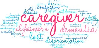 Caregiver Word Cloud. On a white background Stock Photo