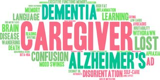 Caregiver Word Cloud. On a white background Royalty Free Stock Image