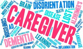 Caregiver Word Cloud. On a white background Stock Photography