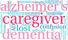 Caregiver Word Cloud. On a white background Stock Images