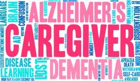 Caregiver Word Cloud Stock Photos