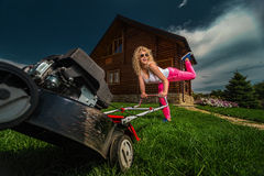 Careless mowing Royalty Free Stock Images