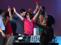 Careless people enjoying themselves at party Stock Photography