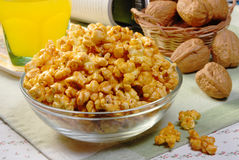 Caremel popcorn Stock Photography