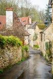 carennac村庄平安的街道法国的 免版税图库摄影