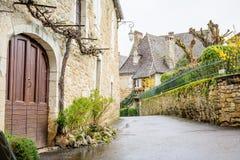 carennac,法国平安的街道  免版税库存照片