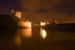 Carephilly Castle at evenlight Royalty Free Stock Photo