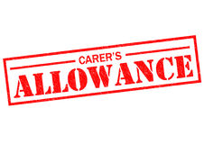 CARER`S ALLOWANCE. Red Rubber Stamp over a white background Royalty Free Stock Photography