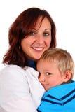 Caresse avec la maman Images libres de droits