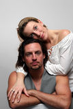 Caresse de couples photos stock