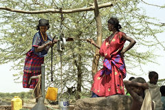 Carestia e mancanza imminenti di acqua, Etiopia Fotografia Stock Libera da Diritti