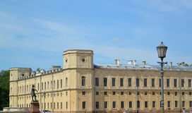 Caret of the southern facade of the Big Gatchina palace. Russia Royalty Free Stock Photos