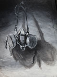 Careta antigás Painitng Foto de archivo