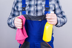 Caretaker cleaning staff Royalty Free Stock Photos