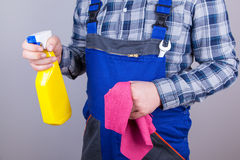 Caretaker cleaning staff Royalty Free Stock Photo
