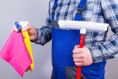 Caretaker cleaning staff Royalty Free Stock Photography