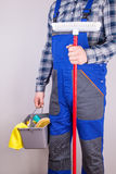 Caretaker cleaning staff Stock Photo