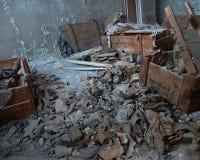 Caretas antigás en Chernóbil Foto de archivo libre de regalías