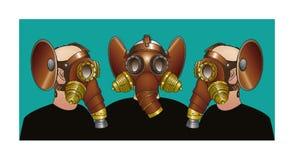 Caretas antigás - fraternidad de Steampunk Imagen de archivo libre de regalías