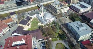 Careva Džamija. Emperor`s Mosque in Sarajevo, aerial view Royalty Free Stock Image