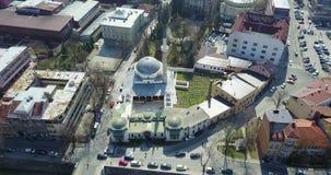Careva džamija, Sarajevo. Look at the Emperor`s Mosque in Sarajevo from the air Stock Images