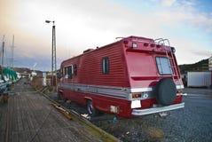 Carevan rouge Image libre de droits