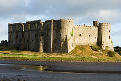 Carew Castle. The Tudor range of Carew Castle in Pembrokeshire royalty free stock photography