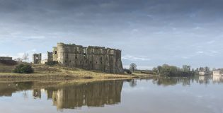 Carew Castle, Pembrokeshire, Wales stock photo