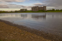 Carew castle over the lake Stock Photography