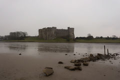 Carew Castle Pembrokeshire South Wales UK Royalty Free Stock Photo