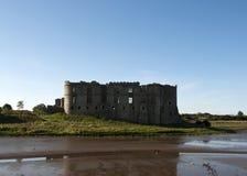 Carew Castle Ruins Pembrokeshire Wales Stock Image