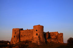 Carew Castle at Sunset Royalty Free Stock Image