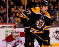 Carey Price Montreal Canadiens and Milan Lucic, Boston Bruins Stock Photo