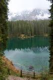 Carezza湖 免版税库存照片