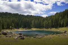 Carezza lake Stock Photography