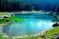 Carezza Lake Royalty Free Stock Photography