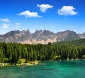 Carezza Lake Royaltyfria Foton
