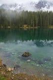 Carezza Lake Arkivbilder