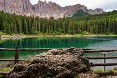 Carezza Lake Royaltyfri Bild